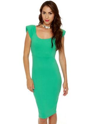Space Race Midi Mint Green Dress