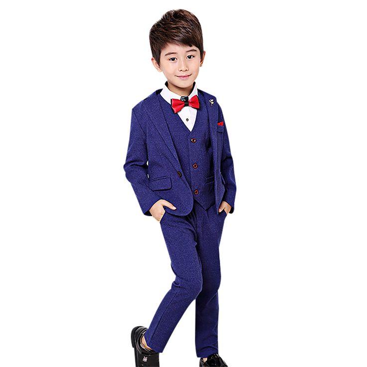 3pcs/sets Boys Suits for Weddings Prom Costume Children Clothes Set enfant garcon mariage Kids Boy Blazer Pants Vest Formal Suit