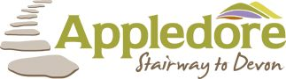Appledore Caravan and Camping site logo, stairway to Devon is the quirky catch phrase used to relate people to the beauty and adventures awaiting them close by in the Dartmoor area