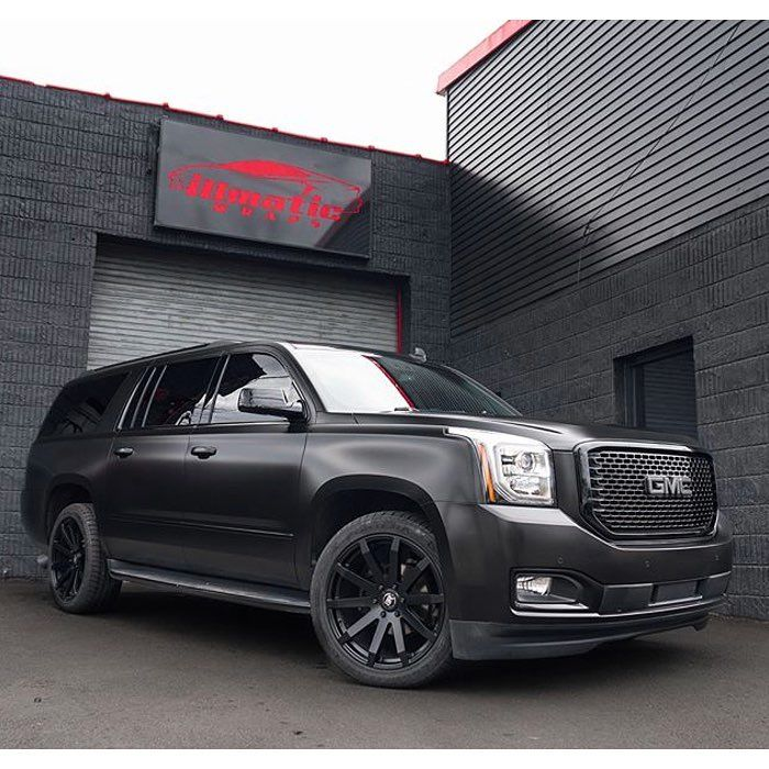 Satin Grey Wrap Yukon Denali Xl Suv Trucks Gmc Suv Buick Gmc