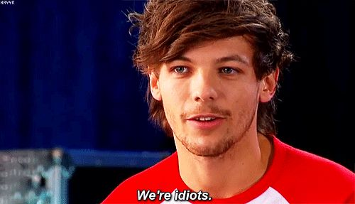And then officially admitted his own glaring, adorable stupidity. | 30 Times Louis Tomlinson Was The Most Perfect Member Of One Direction In 2013 http://www.buzzfeed.com/mattbellassai/30-times-louis-tomlinson-was-the-most-perfect-member-of-one