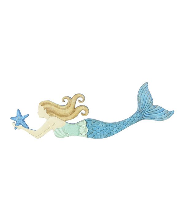 Love this Wood Mermaid Wall Art by Young's on #zulily! #zulilyfinds