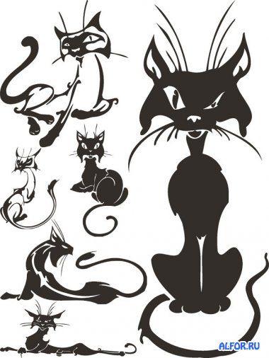 Мартовские Коты черно-белые (подборка клипарта)
