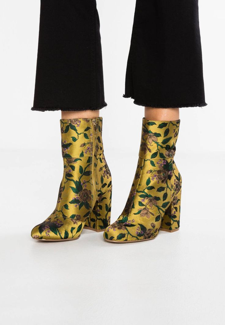 New Look Wide Fit WIDE FIT BELVETEEN - Boots à talons jaune foncé u1olL0
