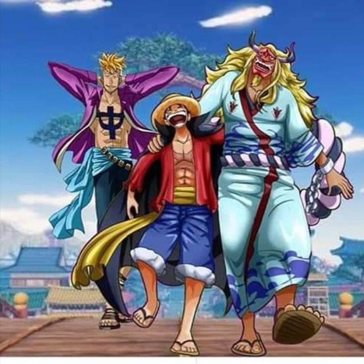 Old Era - Edward Newgate & Gol d. Roger & Kozuki Oden / New Era - Yamato & Monkey d. Luffy ...