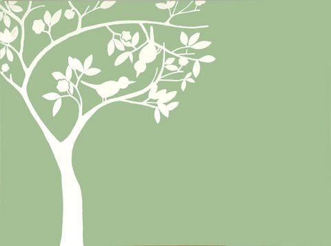 The Love Birds green Displaying this print will encourage love into your life. Two birds sitting together in a blossom tree will bring auspicious energy. Hang this print in the South-west of your bedroom or of the house for attracting and experiencing an equal loving relationship.