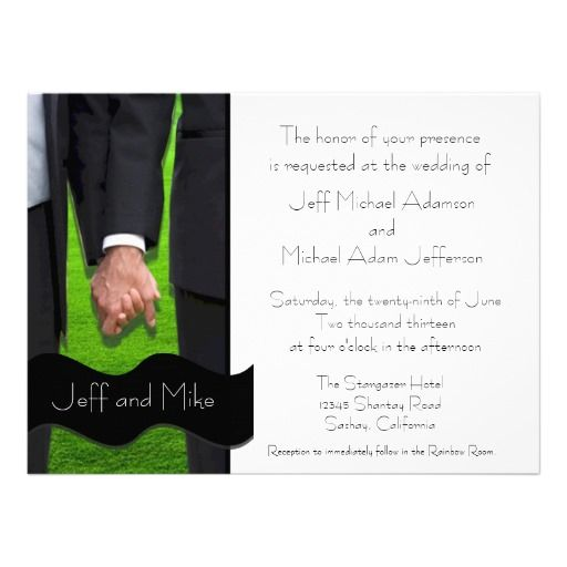 17 best ideas about gay wedding invitations on pinterest, Wedding invitations