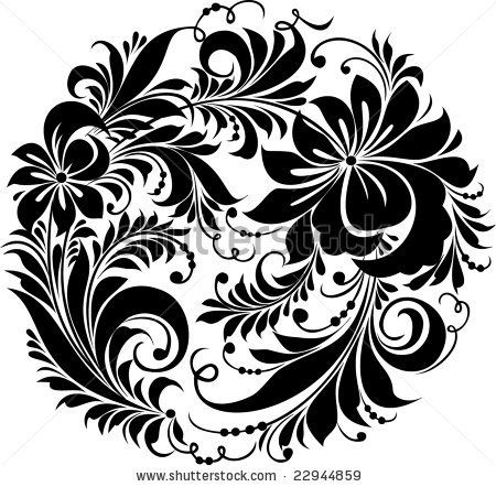 hohloma   ... . Russian Traditional Ornament &Hohloma& - 22944859 : Shutterstock