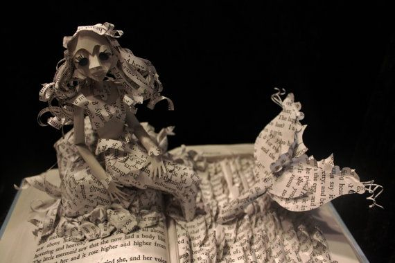 The Little Mermaid Book Sculpture by WetCanvasArt on Etsy: