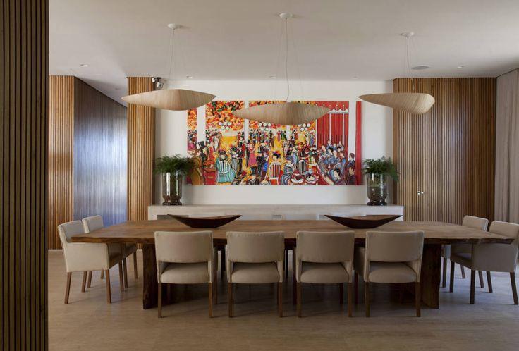 Residência Quinta da Baronesa : Salas de jantar modernas por Débora Aguiar