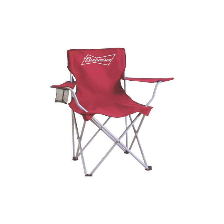Anheuser-Busch Collapsible Tailgate Chair with Match Carry Bag - Red