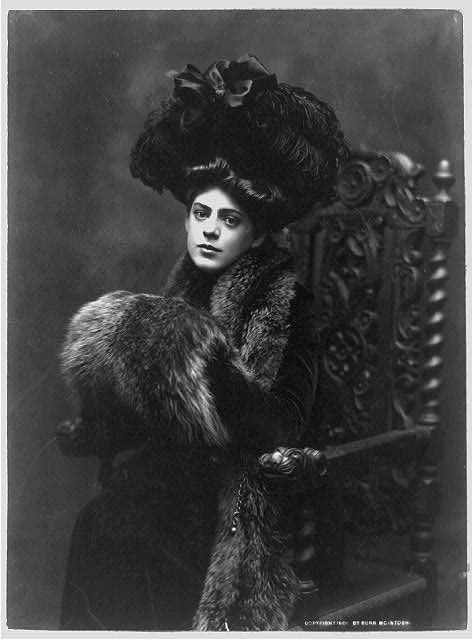 Ethel Barrymore c. 1901~ Silent movie actress and sound.  She was one of the twentieth century's most elegant, beautiful and gifted actresses. She was the sister of actors John Barrymore and Lionel Barrymore, the aunt of actor John Drew Barrymore, and the great-aunt of actress Drew Barrymore.