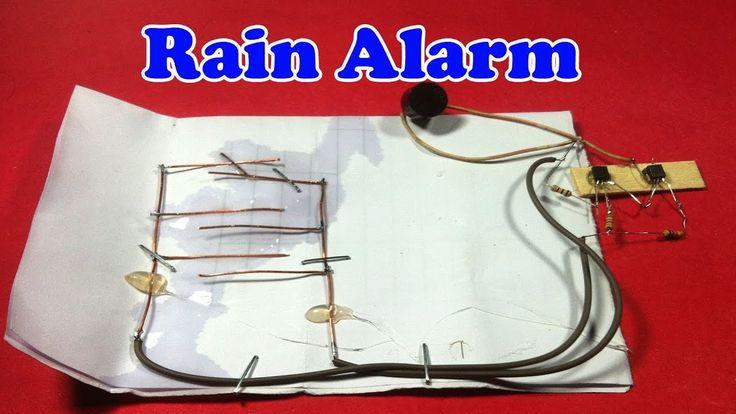 Rain Alarm Project Rain Water Detector Circuit Applications