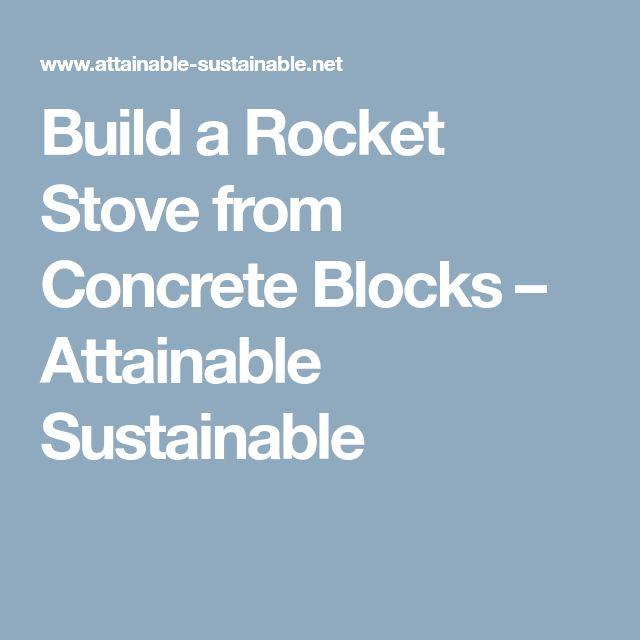 Best 25 concrete blocks ideas on pinterest decorative for Decorative rocket stove