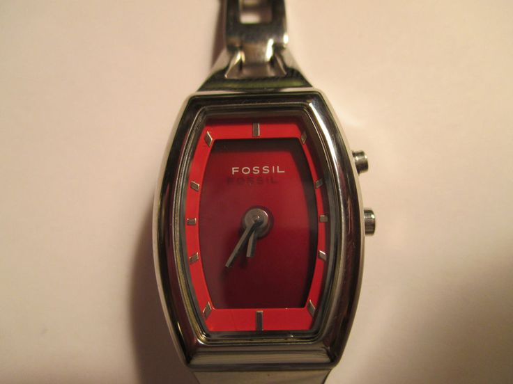 WOMEN'S FOSSIL BIG TIC QUARTZ ANIMATED HARTS DIAL/RED DIAL,ALL SS,WR30M,ES-9566 #Fossil #ContemporaryDesign