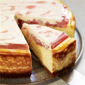 Baked rhubarb and orange cheesecake Recipe | delicious. (MUST BE MADE 1DAY AHEAD)