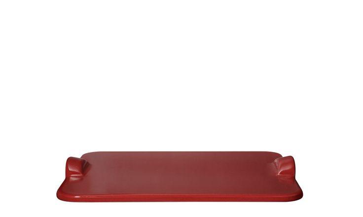 Kamień do pieczenia pizzy prostokątny - czerwony - Emile Henry - DECO Salon #stone for #pizza #kitchenaccessories #baking