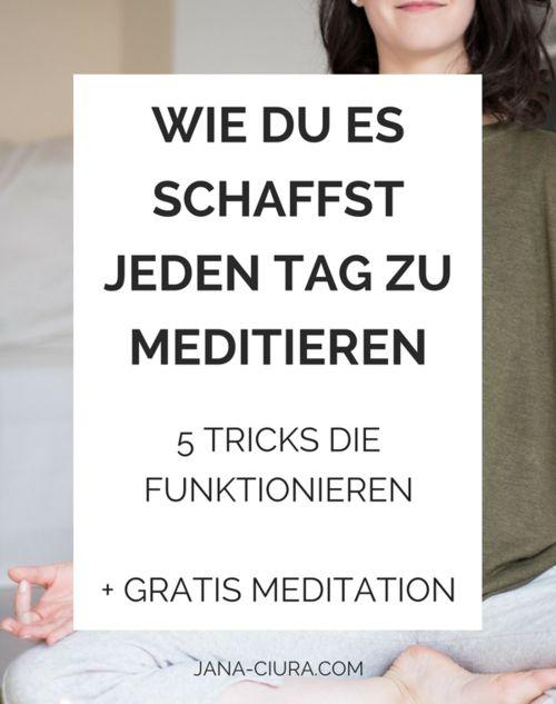 Anleitung täglich meditieren