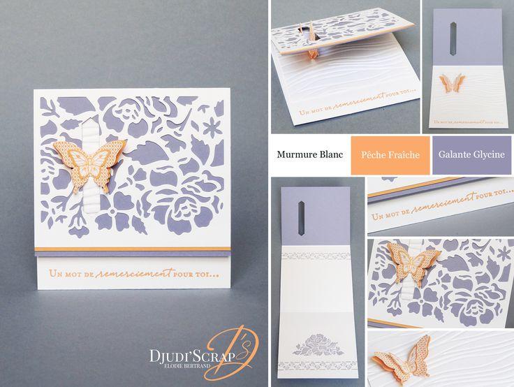 """Djudi'Scrap Stampin'Up! - Tutoriel Carte Remerciements """"Thinlits Fleurs Ouvragées / Detailed Floral Thinlits"""""""