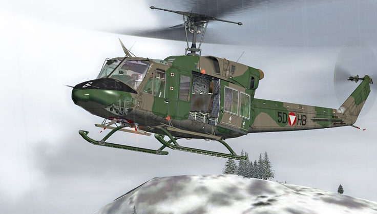 Bell 212 Austrian Air Force Helicopter