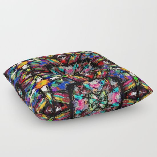 Ecuadorian Stained Glass 0760 floor pillow by Khoncepts