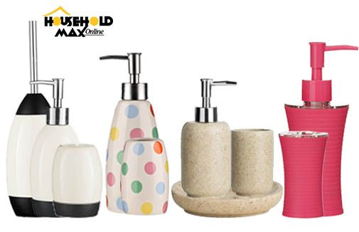 Let your bathroom match your style! Shop colourful bathroom accessories from #HouseholdMax http://bit.ly/1MXg14y