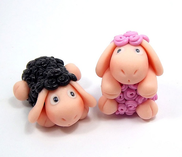 Walby The Black Sheep Polymer Clay Magnet by HeartshapedCreations, via Flickr