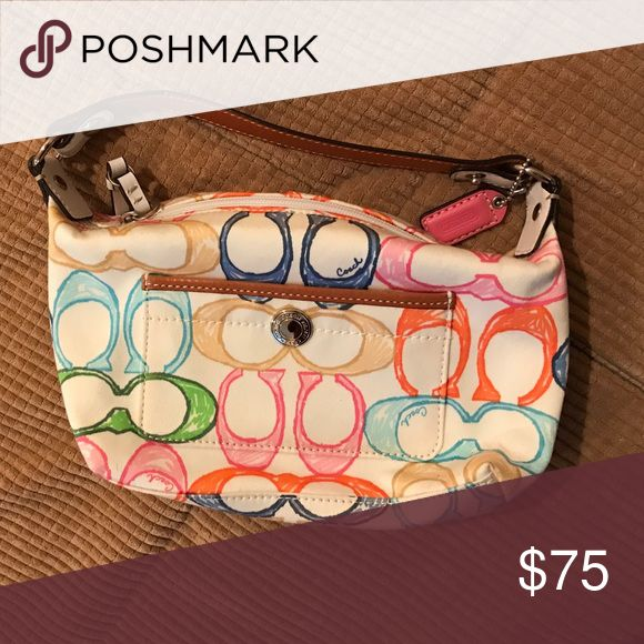 Coach pocketbook Multi-color Coach pocketbook, for any age! Coach Bags Clutches & Wristlets