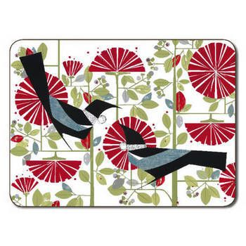 New Zealand New Zealand Tuis and Pohutukawa Placemats - Set of 6