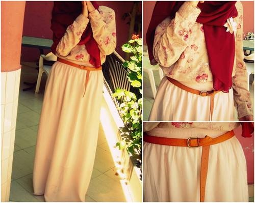 Blouse + Maxi Skirt + Belt