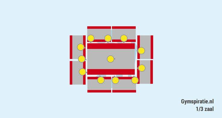 Wiebelmat - Probeer zo lang mogelijk op de dikke mat te blijven.