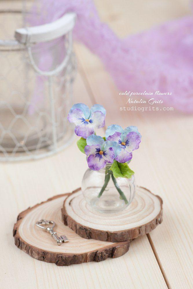 Viola flowers  cold porcelain