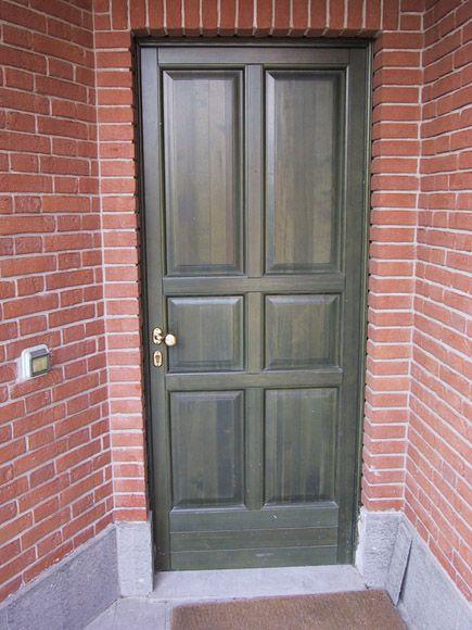 Portoncino blindato verde - Fratelli Brivio #door