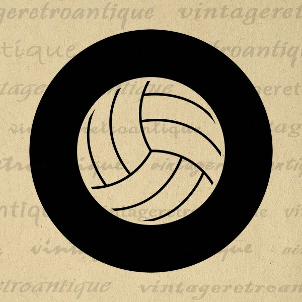 Printable Graphic Volleyball Download Sports Digital Volleyball Image Antique Clip Art Jpg Png Eps Print 300dpi No.4553 @ vintageretroantique.com #DigitalArt #Printable #Art #VintageRetroAntique #Digital #Clipart #Download