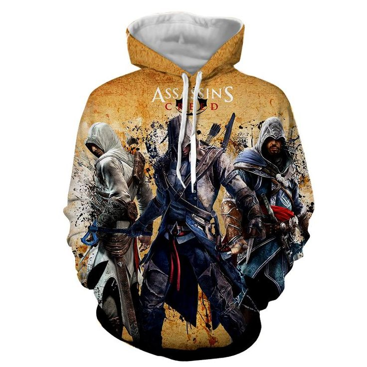 Assassin's Creed The Three Altair Connor Ezio Full Print Hoodie    #Assassin'sCreed #TheThree #Altair #Connor #Ezio #FullPrint #Hoodie
