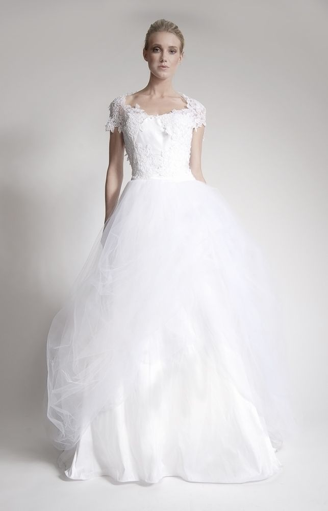 2012 Wedding Gown Trends: Lace, layers, and details [dress by DC's Elizabeth St. John Couture]