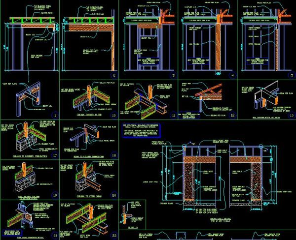 Framing Details】★ Cad Library Autocad Blocks Autocad