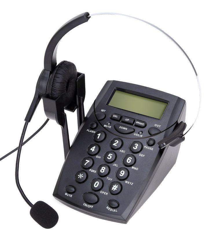 Centro de Llamadas de Teléfono Con Cable Con Redail Callany y Mudo, Dail Pad y el Teléfono Auricular, Juego Para Agentes Trabajan en Casa