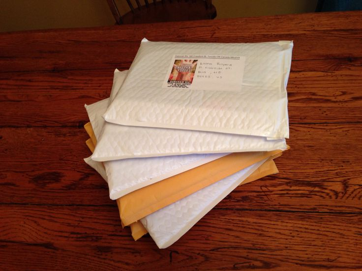 Books all packaged up and ready to send to contest winners.