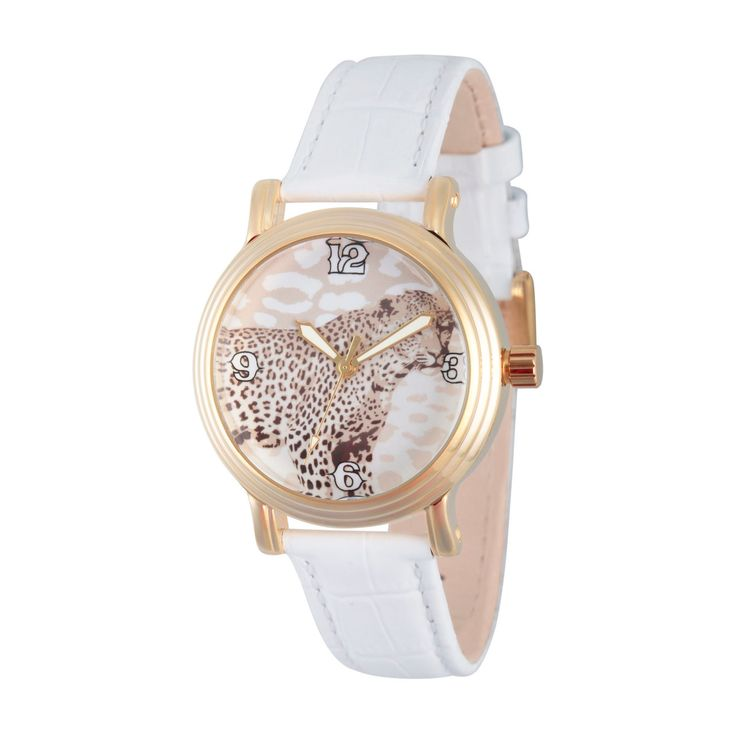 Women's Discovery Channel Animal Planet Gold Vintage Alloy Watch - White