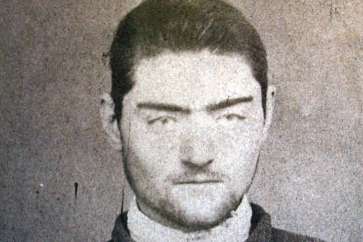 Ned Kelly, Australia's most well-known and mythical bushranger at 19years old.Police mugshot