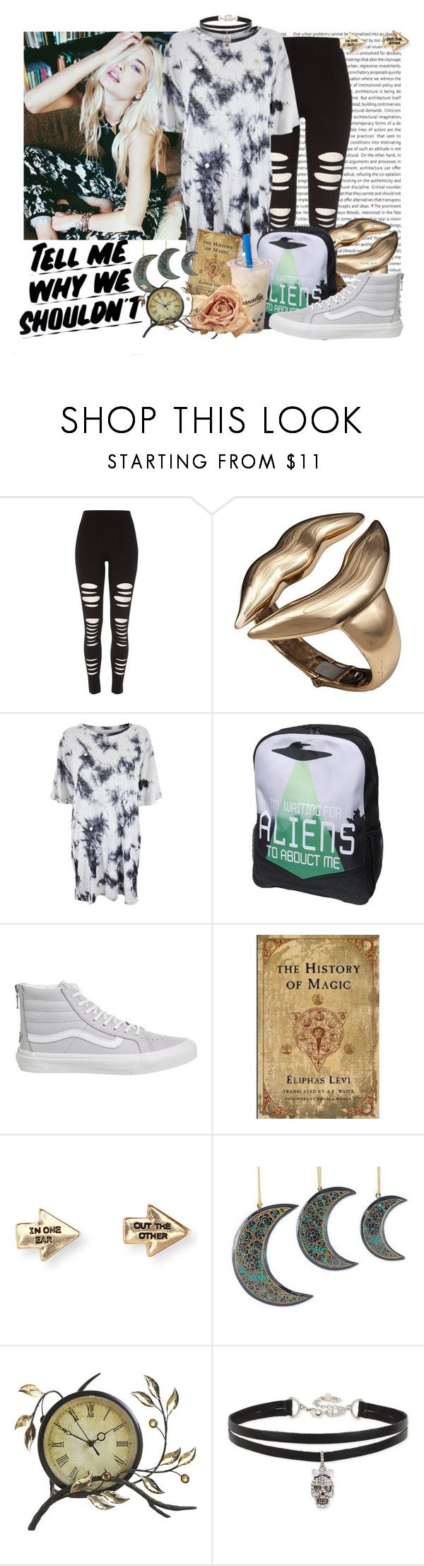 """Living is A Hurtful Memory"" by grimalkim ❤ liked on Polyvore featuring River Island, Bernard Delettrez, Native Rose, Vans, Levi's, Baron Von Fancy, Aéropostale, NOVICA, Pier 1 Imports and Betsey Johnson"