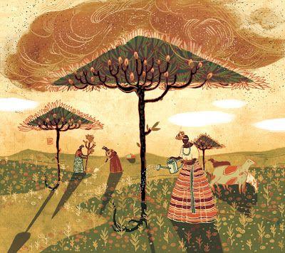 Tree Shields by Victo Ngai