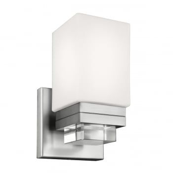 A modern bathroom wall light with understated crystal details features clean, elegant lines befitting any modern bathroom, en-suite or cloakroom. Comes complete with a 3.5 watt G9 LED bulb to help reduce your running costs. IP44, this is safe to use in bathroom zones 1, 2 and 3 and it would also be an ideal light to use in other areas throughout the home.