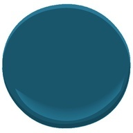 Benjamin Moore Slate Teal: Accent wall?