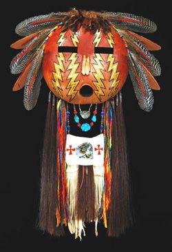 Black Eagle Shoshone Spirit Mask Native American