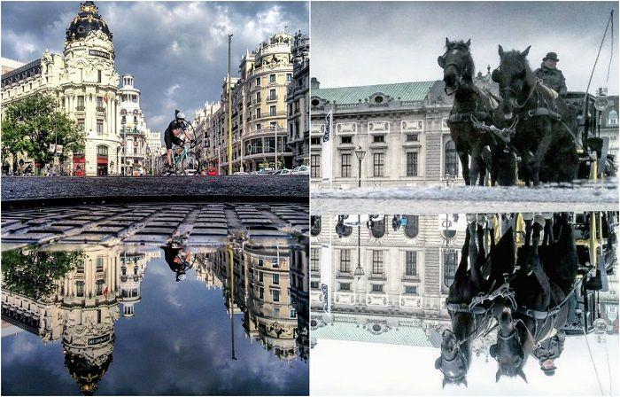 Фотография: «Параллельные миры»: Фотограф снимает отражения в городских лужах по всему миру http://kleinburd.ru/news/fotografiya-parallelnye-miry-fotograf-snimaet-otrazheniya-v-gorodskix-luzhax-po-vsemu-miru/