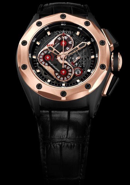 CVSTOS Challenge-R50 Chrono HF Black Steel and Red Gold