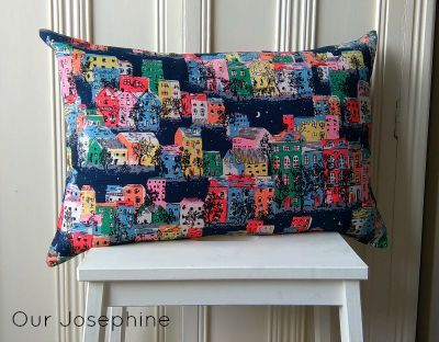 Our Josephine Sews… A Button Up Cushion