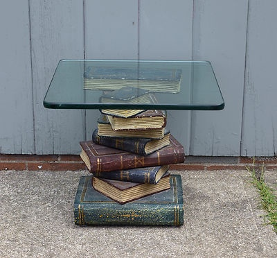 Maitland Smith Book Stack End Table with Glass Top Hollywood Regency Furniture | eBay